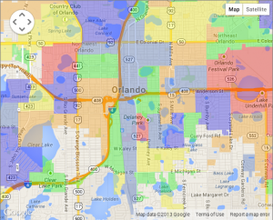 Downtown Orlando map
